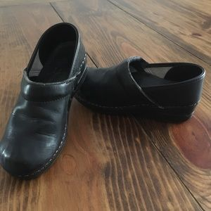Dansko Professional Black Oiled Leather Clogs